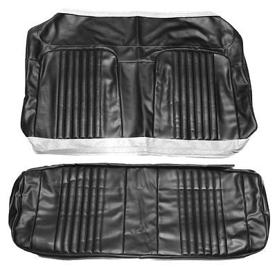 1971 1972 Chevelle SS396 SuperSport Coupe Rear Seat Covers Black PUI 71AS10C