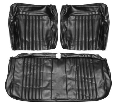 1971 1972 El Camino SS396 SS454 Bench Seat Covers Black PUI 71AS10B ( IN STOCK )