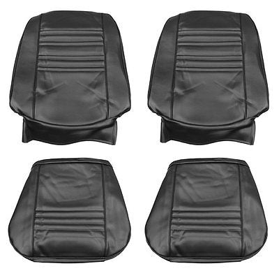 1967 Chevelle SS396 SuperSport Bucket Seat Covers Black PUI 67AS10U (In Stock)