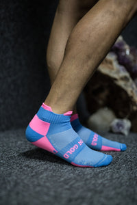 Pink&Blue Short Performance Sock