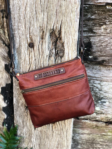 Leather Crossbody Zip Bag