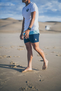 Mint & Navy Boardshorts