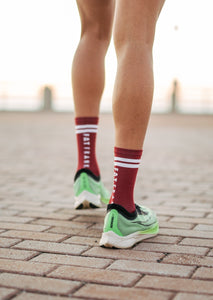 Maroon Performance Sock