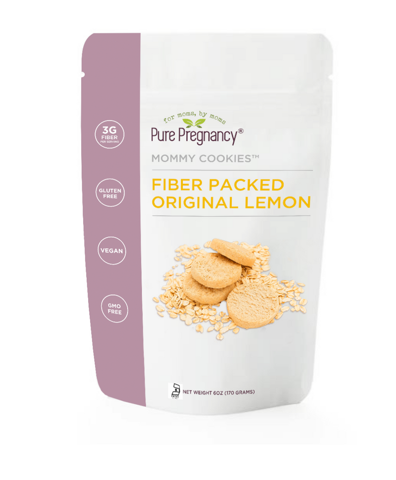Pure Pregnancy Mommy Cookies- Fiber Packed Original Lemon