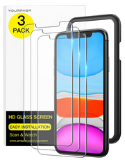 Tempered Glass Screen Protector for iPhone XR/11 6.1 inch