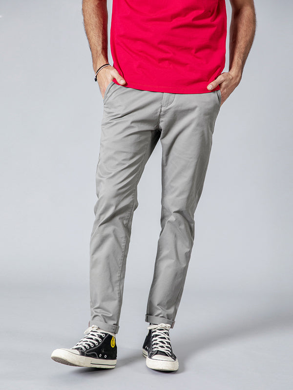 Solid Pocket Casual Pants Bottom