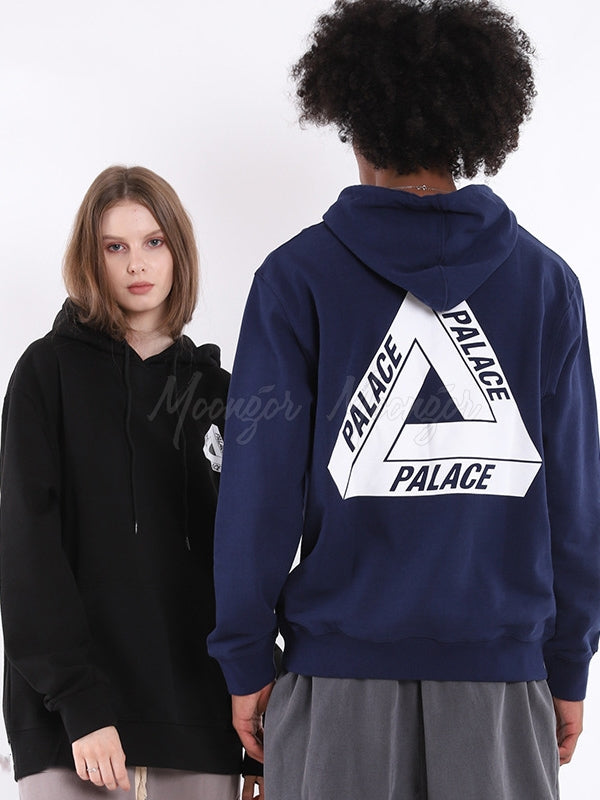 Vintage Triangle Printed Lovers Hoodie Sweatshirt