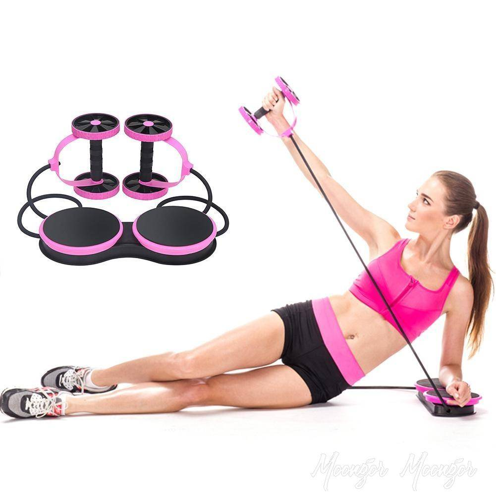 Multi-Function Fitness Pulling Rope Abdominal Wheel