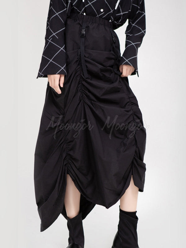 Irregular Pleated Skirt