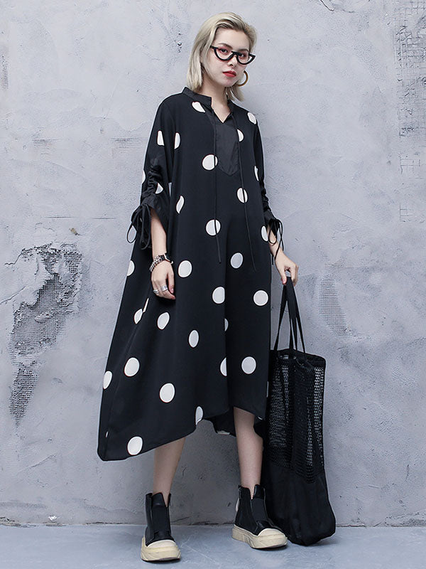 c1ab9c0513b Loose Polka-dot Long Dress – moongor