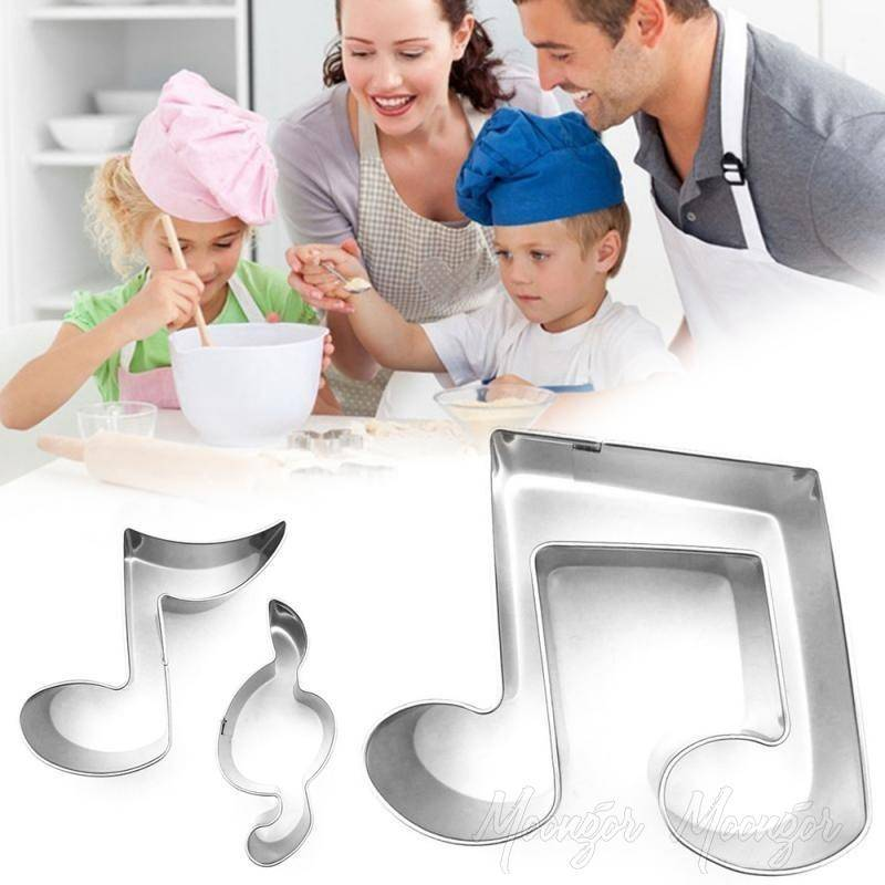 3D Stainless Steel Music Note Cookie Molds