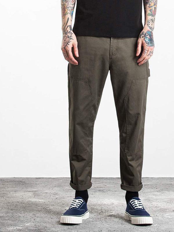 Solid Side-Pocket  Casual Pants Bottom