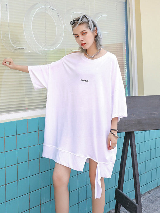 Loose One-shouldered T-shirt