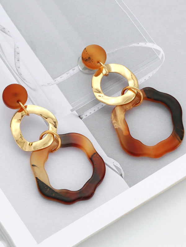 Fashion Ring Big Earrings