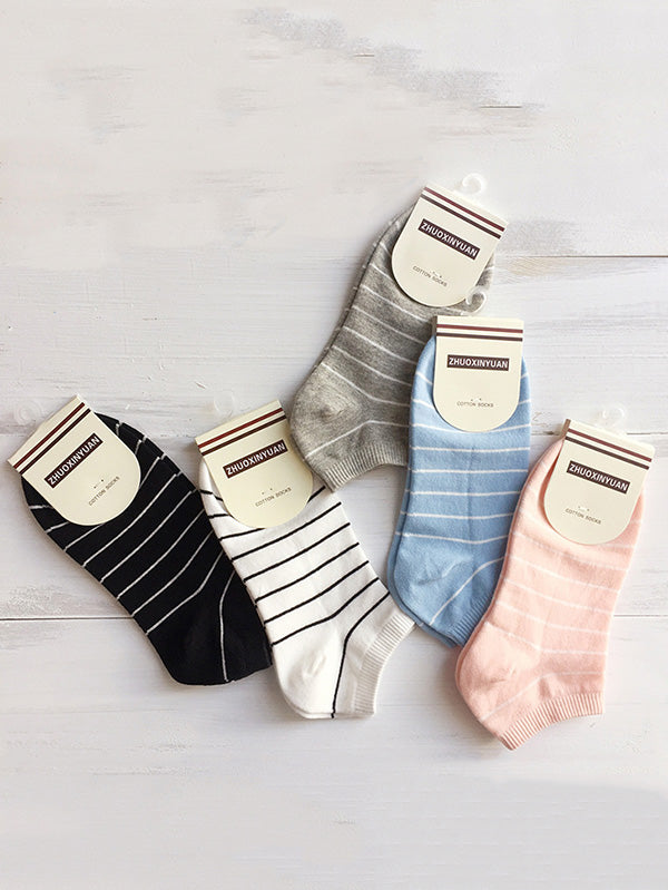 Cotton Striped Sports Socks