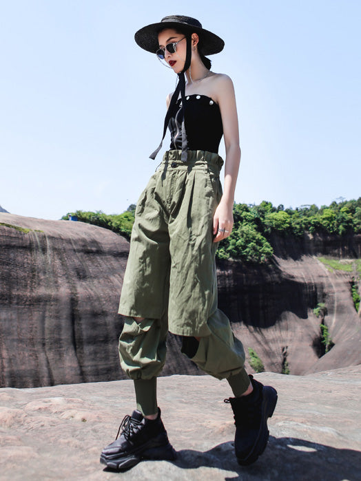 Loose Light Shredded Tooling Overalls