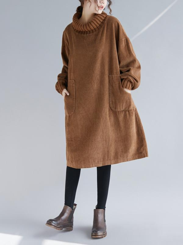 Super Loose Warm Button Long Sweater