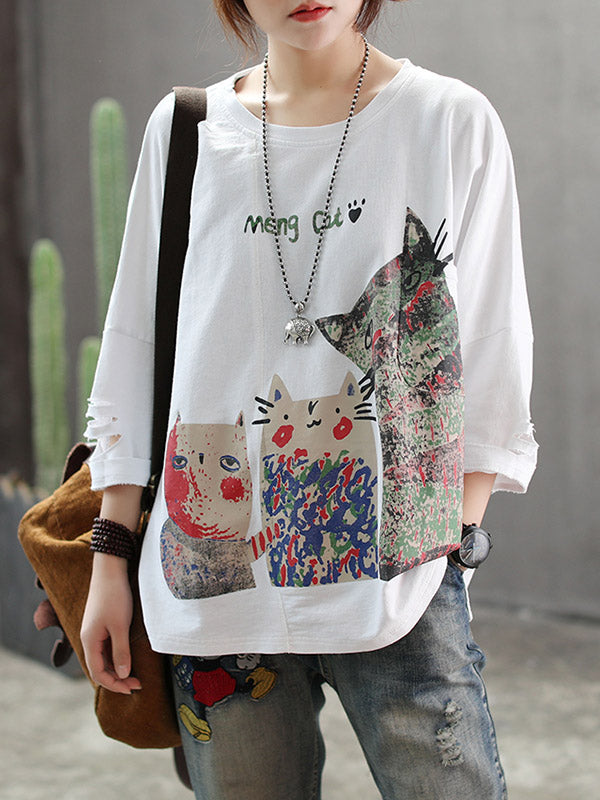 Loose Printed Comfortable Blouse