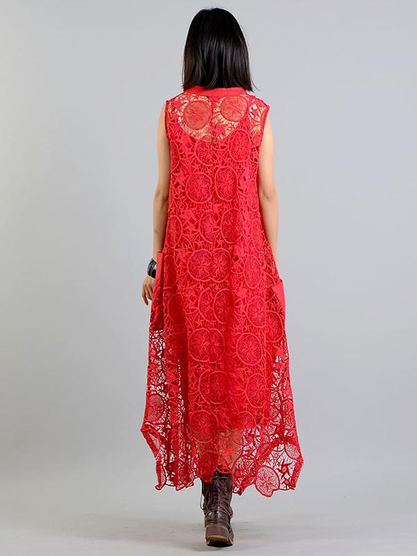 Pure Color Eugenia Embroidered two-pieces A-Line Long Dress