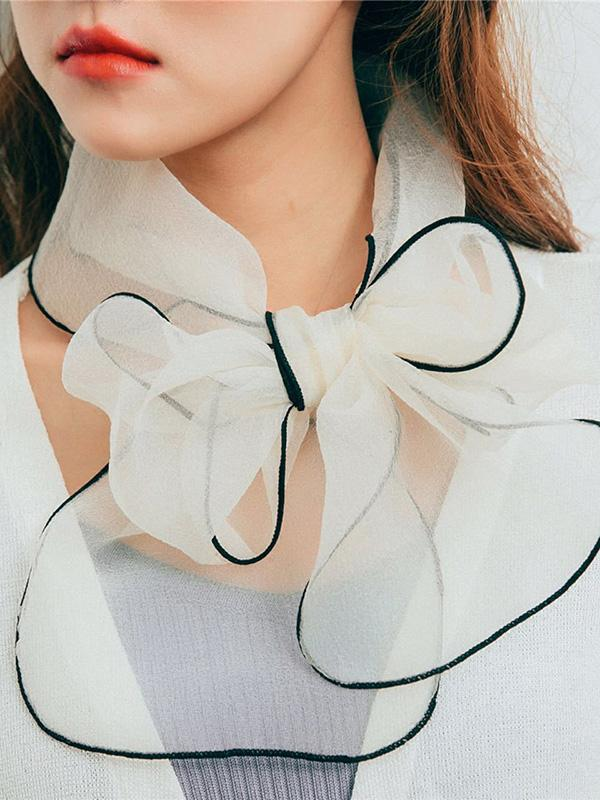 5 Colors Bow-embellished Eugenia Scarf