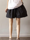 Comfortable Pure Color Linen Cotton Shorts
