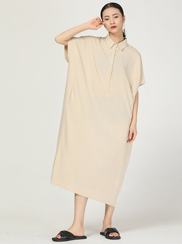 Retro Polo Long Shirt Dress
