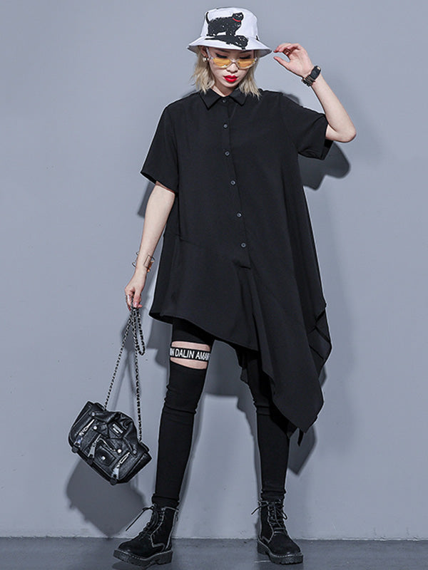 Chiffon Loose Oversize Asymmetric Blouse Dress