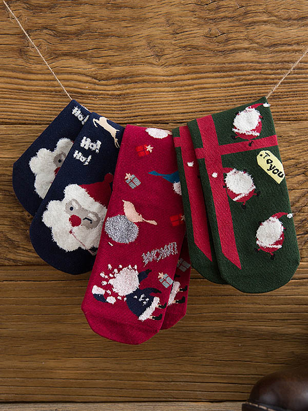 Christmas Elements Cotton Stockings