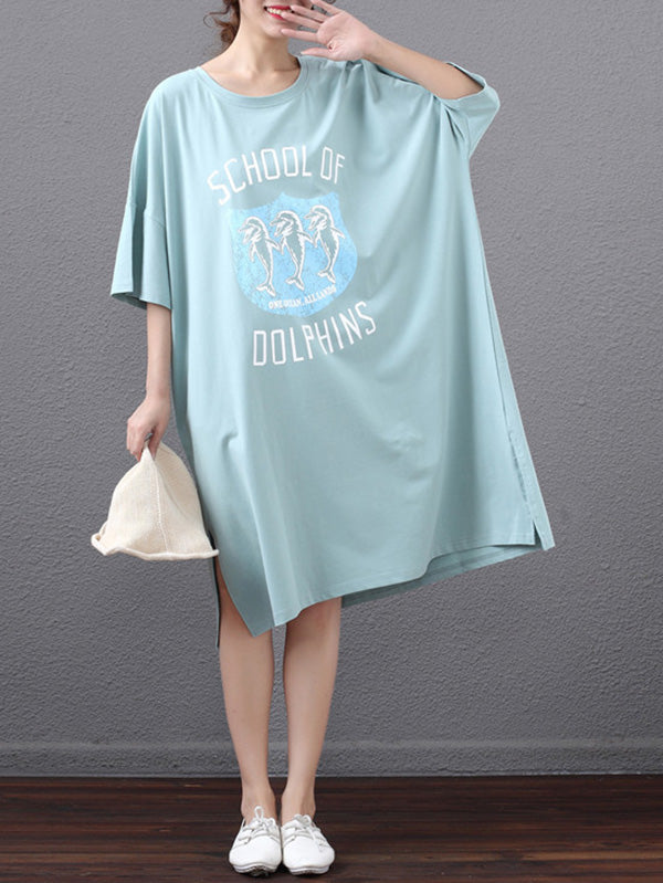 Summer Loose Oversize Printed Dress