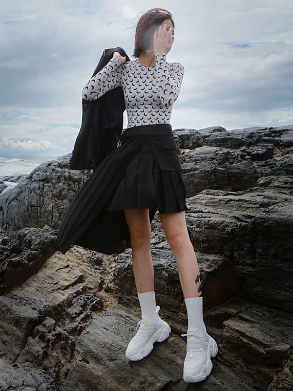 Irregular Split-joint Fashion Skirt