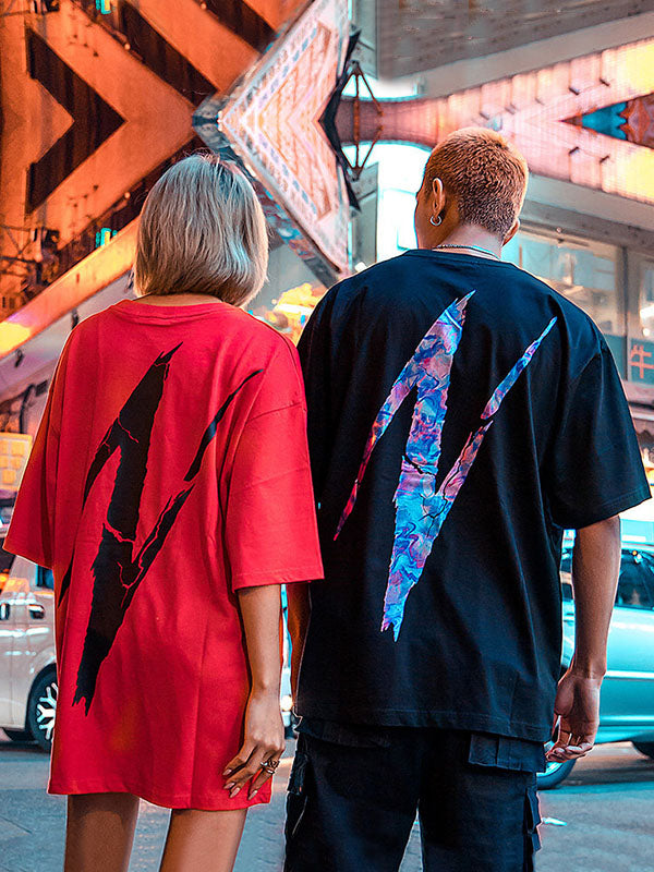 Fashion Printed T-Shirt  Couple Wear