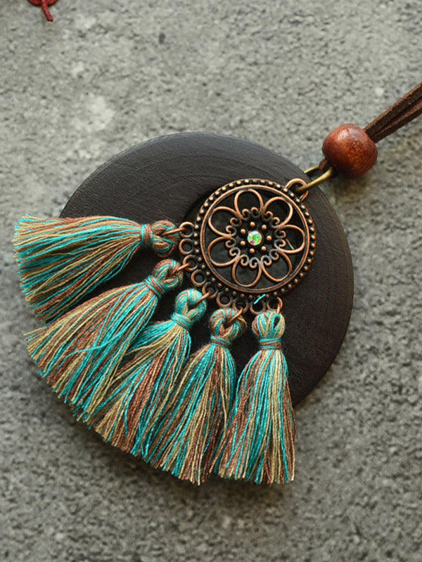 Ethnic Style Tassel Necklace