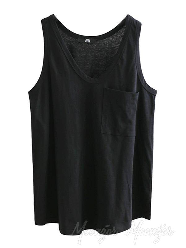 Casual Comfortable Big-Neck Simple Camisole