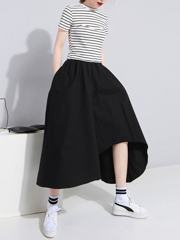 Loose Cotton Irregular Skirt