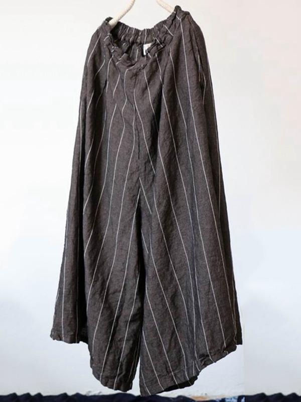 Super Loose Stripe Wide-leg Pants
