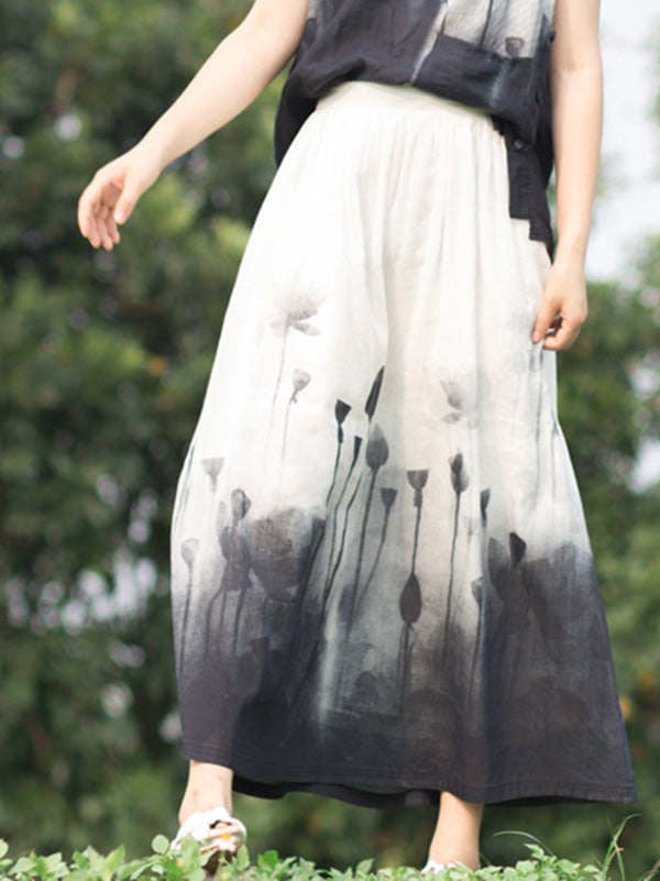 Elastic Waist Design Skirt