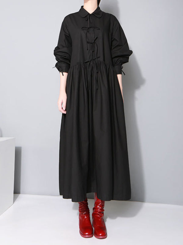 Loose Big Hem Long Shirt Dress