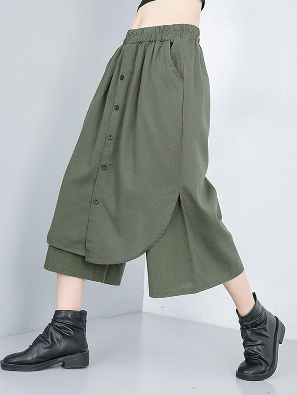 False-Dress Wide Pants