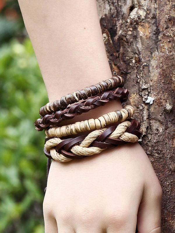 Punk Braided Vintage  Bracelet Accessories