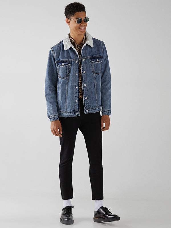 Fashion Blue Denim Men Casual Jacket