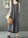 Casual Simple Stripe Long Dress