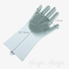 Home 1 Pair Silicone Rubber Scrub Washing Cleaning Gloves