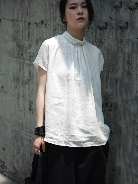 Ruffled Fresh Simple Fiber T-shirt