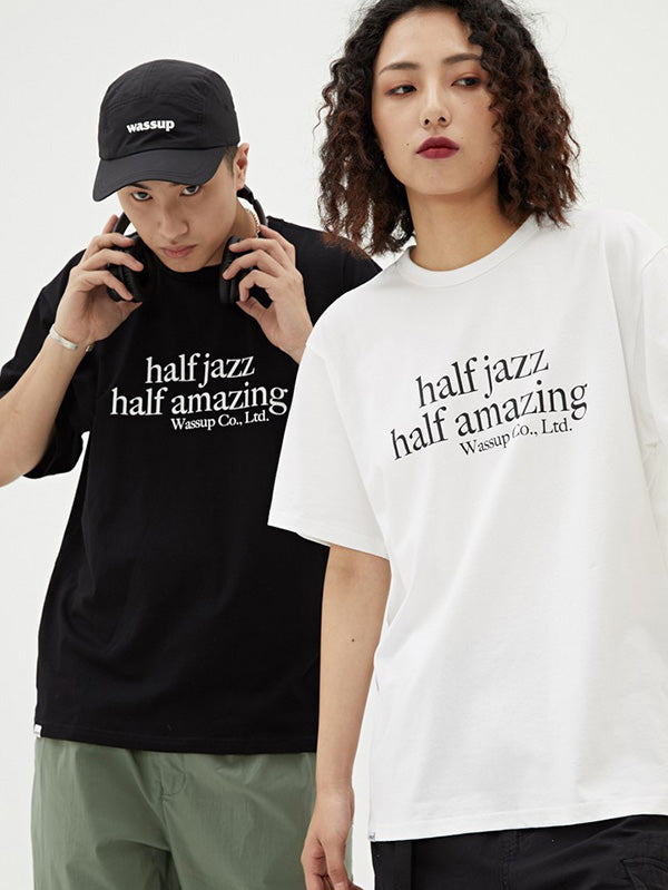 Loose Jazz Printed Solid T-Shirt