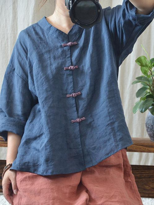 Loose National Style button Cover-up