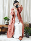 Loose Comfortable button Long Sleeve Cover up