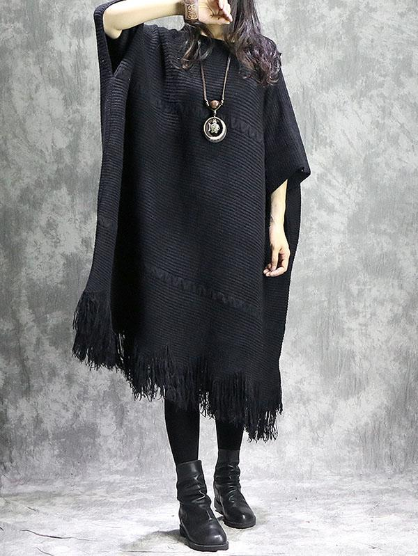 Loose Batwings knitting Dress