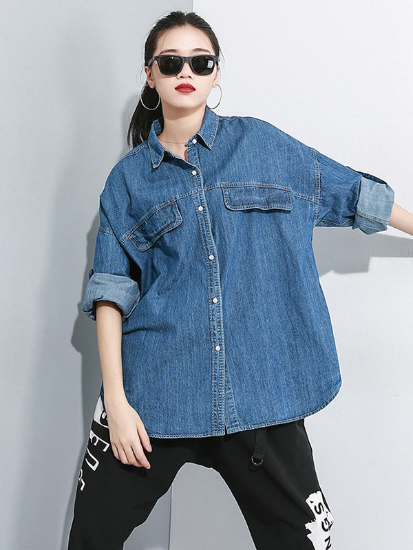 Loose Boyfriend Style Denim Outwear