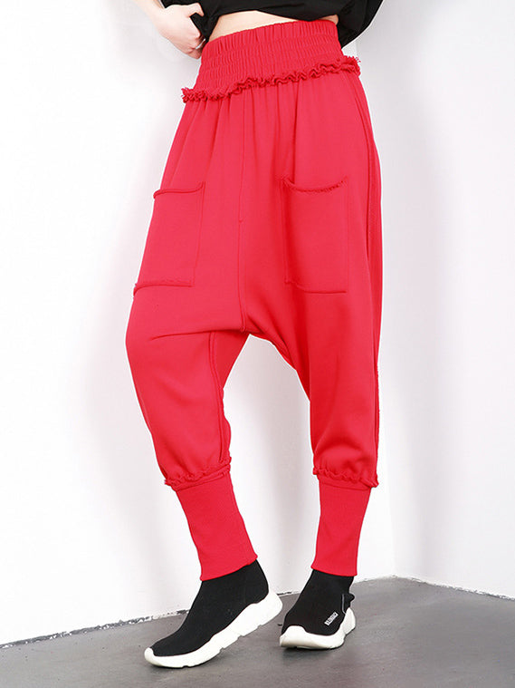 Fashion Loose Solid Harem Pants