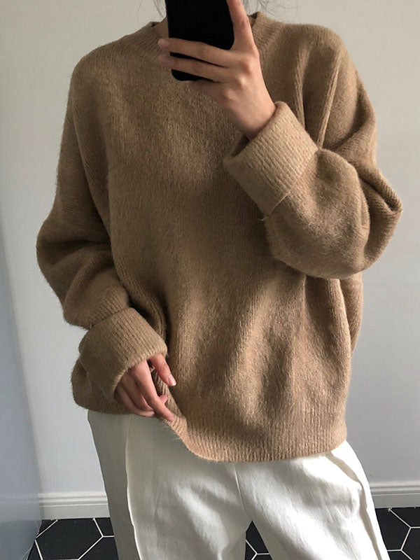Loose Pure Color Sweater
